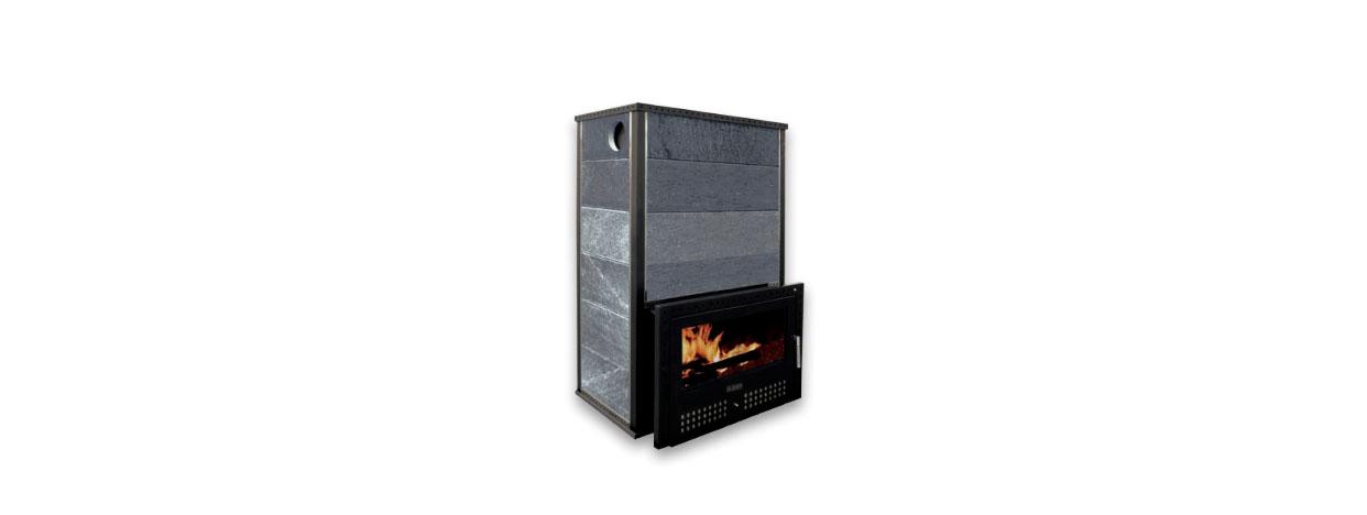 Soba sauna pe lemne KLV RT-RV 100 de la Klover